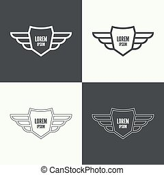 Badge with wings.