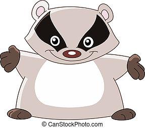 Cheerful badger