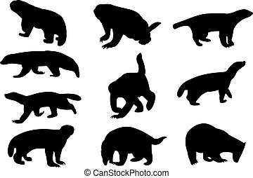 Badger Silhouette vector illustration