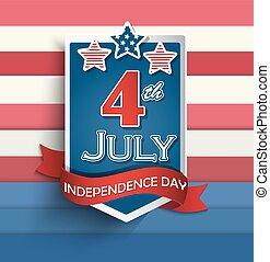 badges., dag, onafhankelijkheid