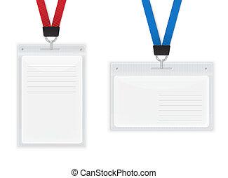 badges., id, plastica