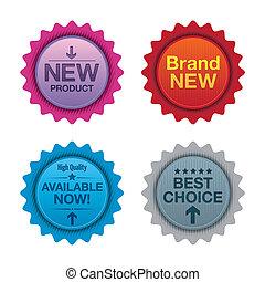 badges., prodotto, promozione