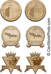 Badges vector set