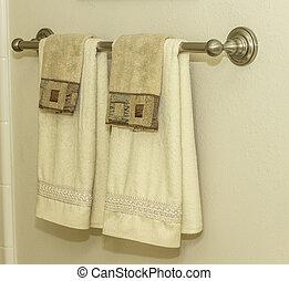 badkamer, handdoekring