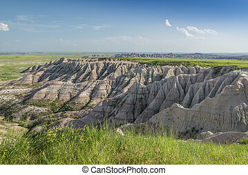 Badlands amid the grasslands