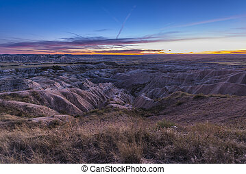 Badlands at Sunset