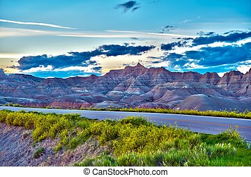 Badlands HDR Photo