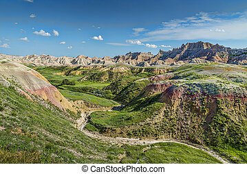 Badlands landscape