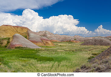 Badlands National Park in southwestern South Dakota, USA.