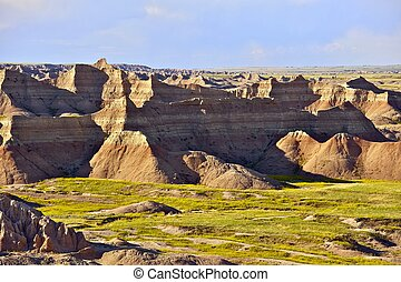 Badlands National Park, South Dakota USA. Badlands Scenery. South Dakota Photography Collection.