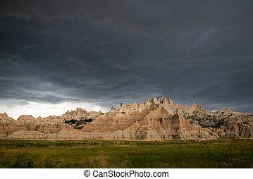 badlands parc national, dakota, sud, vue