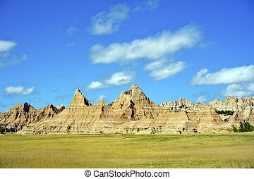 Badlands Scenery - South Dakota, USA Landscape. Nature Photo Collection.