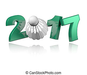 Badminton 2017 design with a white Background