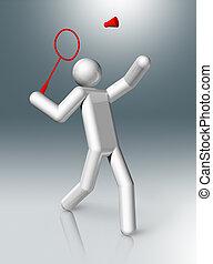 Badminton 3D symbol, Olympic sports