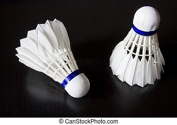 Badminton Bird - This are two badminton birds on black table