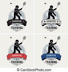 Badminton club logo design.