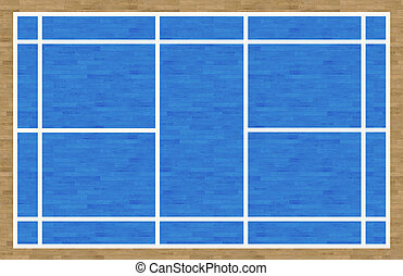 Badminton Court - An overhead view of a badminton court ...