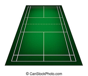 Badminton court - Illustration of badminton court