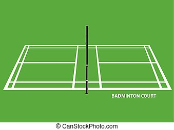 Badminton Court Side View Vector Illustration - Vector ...