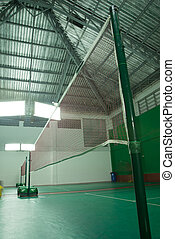 badminton court with thermal insulation roof
