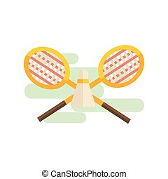 badminton, ensemble, jouer