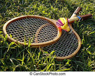 badminton equipment - badminton rackets and shuttlecock in ...