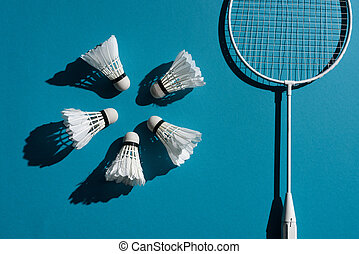 badminton equipment - composition with badminton racket and ...