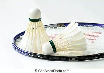 badminton, federbälle, schläger