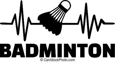 Badminton heartbeat line