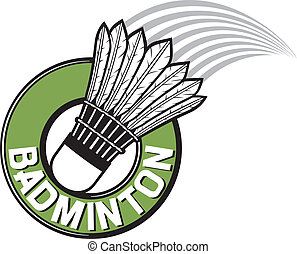 badminton label, badminton sign