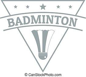 Badminton logo, simple gray style
