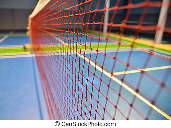 badminton net - indoor badminton net close up