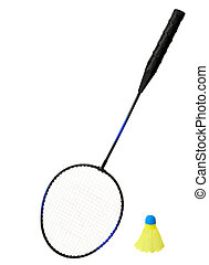 Badminton Racket and a Shuttlecock