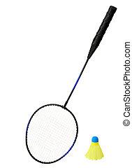 Badminton Racket and a Shuttlecock