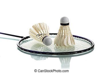 Badminton racket - Shuttlecock on badminton racket