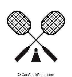 Badminton Rackets and Volant