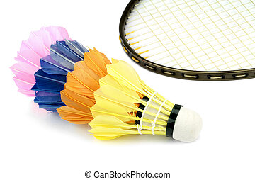 Badminton shutlecocks close up image