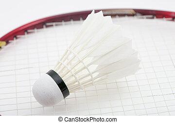 Badminton shuttlecock for sport game on white background.