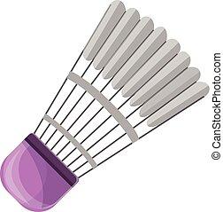 Badminton shuttlecock icon, cartoon style - Badminton...