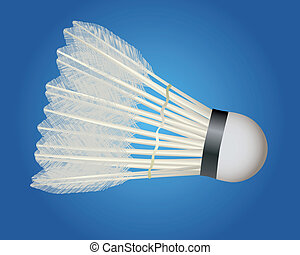 badminton shuttlecock on a blue background