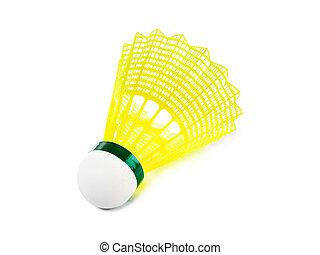 Badminton shuttlecock isolated on white background