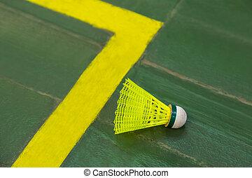 Badminton shuttlecock - sport background