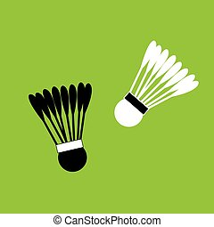 Badminton shuttles for sports - Vector illustration of...