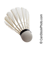 Badminton with white background