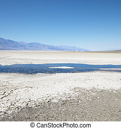 Badwater Basin, Death Valley. - Badwater Basin in Death...