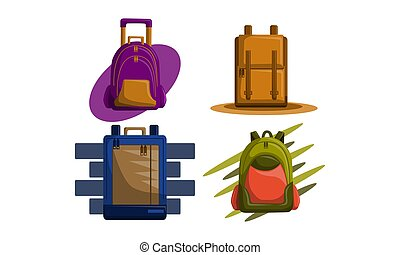Bag Back to School Vector Set