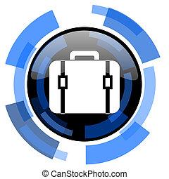 bag black blue glossy web icon
