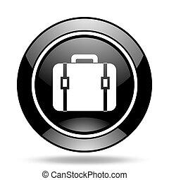 bag black glossy icon