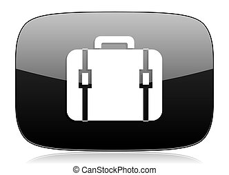 bag black glossy web modern icon