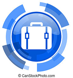 bag blue glossy circle modern web icon